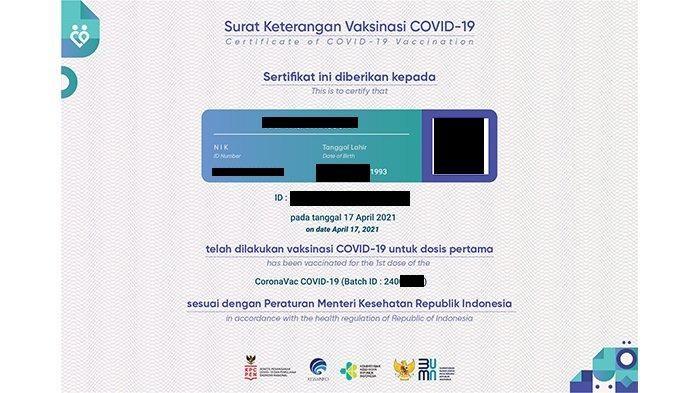Akses pedulilindungi.id, Link Download Sertifikat Vaksinasi Covid-19 Format Terbaru di HP